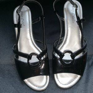 Easy Street black Patton leather sandal